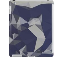 Cool Black Blue Abstract Low Polygon Background iPad Case/Skin