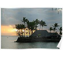 Sunset in Fiji Poster