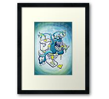 Toilet Monster Framed Print