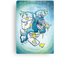 Toilet Monster Metal Print
