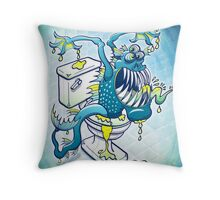 Toilet Monster Throw Pillow