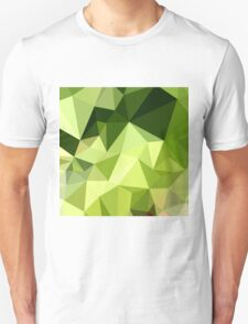 Electric Lime Green Abstract Low Polygon Background T-Shirt