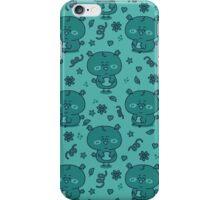 cute blue owls iPhone Case/Skin