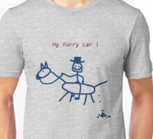 My furry car - Horse Art by Valentina Miletic Unisex T-Shirt