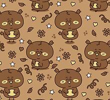 cute brown owls by BoYusya