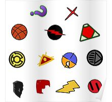 Supervillain Symbols Poster