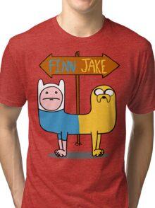Finn & Jake- CatDog Tri-blend T-Shirt