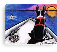 Boston Bow Sunset Canvas Print