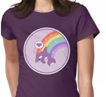 Orca Rainbow Womens Fitted T-Shirt