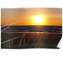 Sunset along Lake Michigan at Silver Beach - 6 Poster