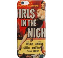 Vintage poster - Girls in the Night iPhone Case/Skin