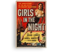 Vintage poster - Girls in the Night Canvas Print