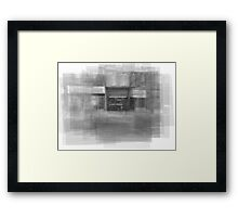 Redline Coffee and Espresso Cafe Streetscape Toronto Framed Print