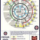 Final Fantasy VII - Midgar Mass Transit System Map by Reverendryu