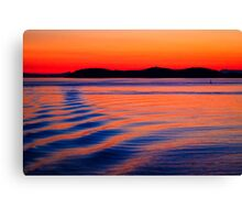 Ferry Sunset Canvas Print