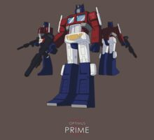 Optimus Prime - (colour) - dark T-shirt  by NDVs