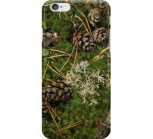 Cones in moss iPhone Case/Skin