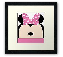 Minnie Pink Bow Framed Print