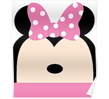 Minnie Pink Bow Poster