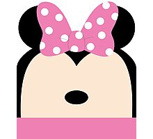 Minnie Pink Bow Photographic Print