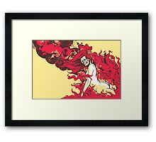 Satan's Pin Up Framed Print