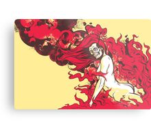 Satan's Pin Up Metal Print