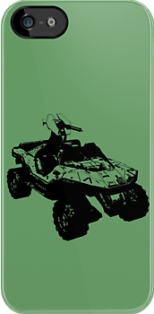 Halo warthog IPhone case by Sam Mobbs