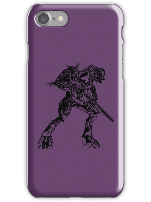 Halo Arbiter Iphone case by Sam Mobbs