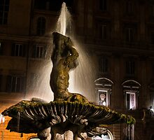 Rome's Fabulous Fountains - Bernini's Triton Fountain by Georgia Mizuleva