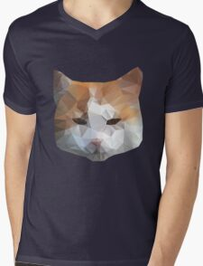 cat head Mens V-Neck T-Shirt