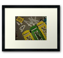 Graffitti and wall art Framed Print