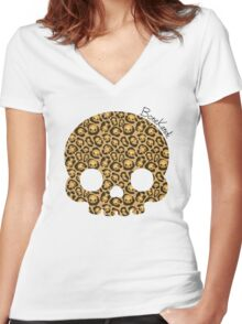 Bone Kandi - Leopard Print /light/ Women's Fitted V-Neck T-Shirt