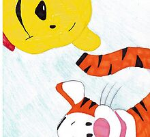 winnie the pooh and tigger by Xart-by-sarahX