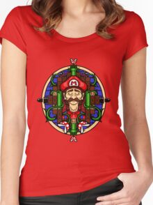 Mario's Melancholy Women's Fitted Scoop T-Shirt