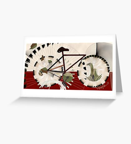 Cyclostract: Bikes without Boundries Greeting Card