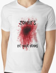 Zombies: Eat Your Brains Mens V-Neck T-Shirt