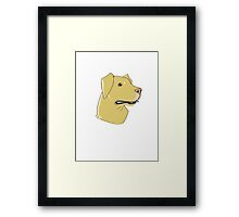 Yellow Lab Framed Print