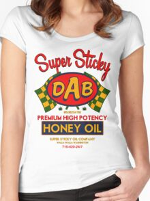 DAB-Honey oil-3 Women's Fitted Scoop T-Shirt