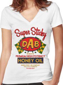 DAB-Honey oil-3 Women's Fitted V-Neck T-Shirt