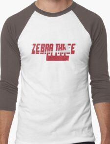 Vintage Seventies Look Zebra Three Call Sign Graphic Men's Baseball ¾ T-Shirt