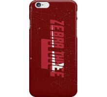 Vintage Seventies Look Zebra Three Call Sign Graphic iPhone Case/Skin