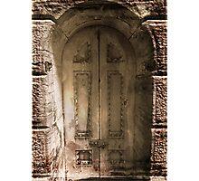 Mausoleum Door cemetery photography Photographic Print