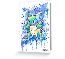 Cool WARTORTLE Watercolor Tshirts + More! ' Pokemon ' Jonny2may Greeting Card