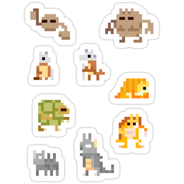 Mini Pixel Kanto Ground Types - Set of 9 by pixelatedcowboy