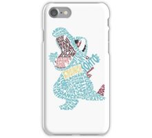 Totodile Typography iPhone Case/Skin