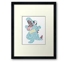 Totodile Typography Framed Print