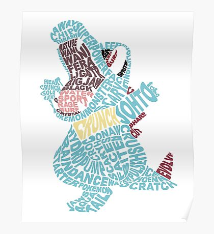 Totodile Typography Poster
