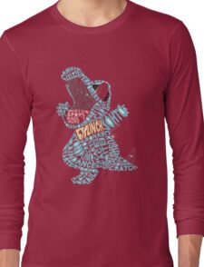 Totodile Typography Long Sleeve T-Shirt