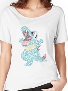 Totodile Typography Women's Relaxed Fit T-Shirt