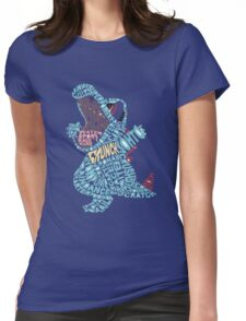 Totodile Typography Womens Fitted T-Shirt